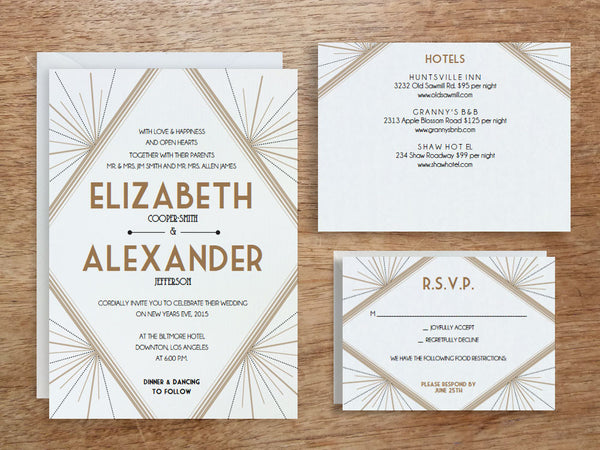 Printable Invitation Set - Deco