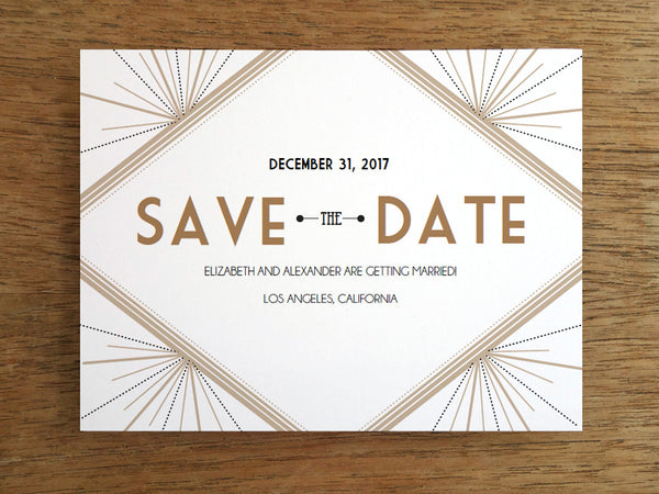 Printable Save the Date - Deco - Great Gatsby - 1920s