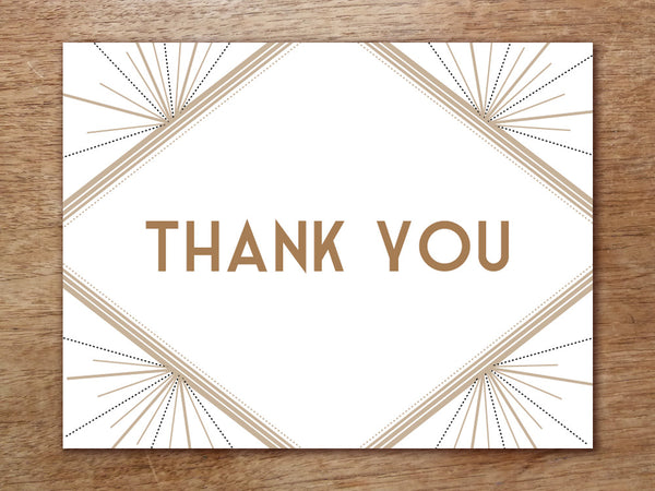 Printable Thank You Card - Art Deco - Great Gatsby