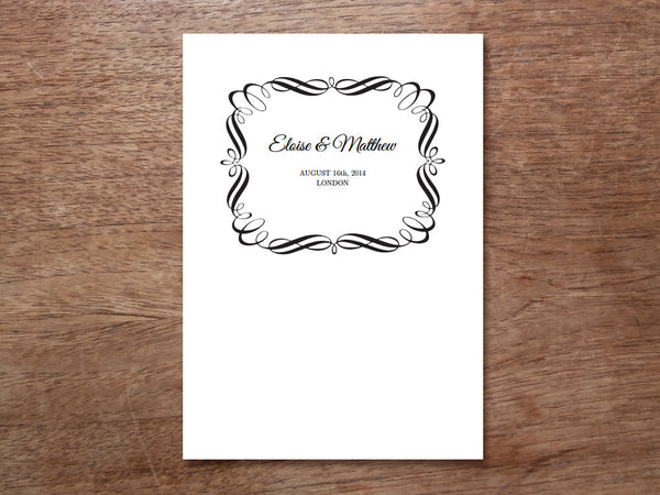 Printable Wedding Program - Flourish