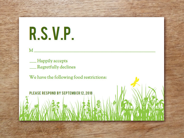 Printable Wedding RSVP Card - Garden Party