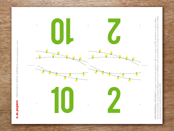 Printable Table Number - Garden Party