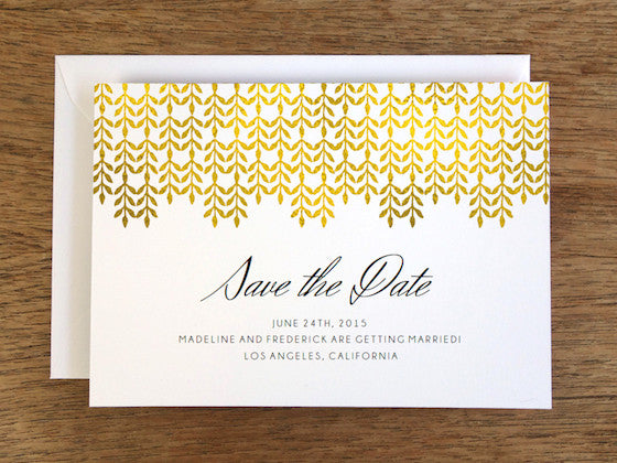 Printable Wedding Save the Date - Glamorous Gold