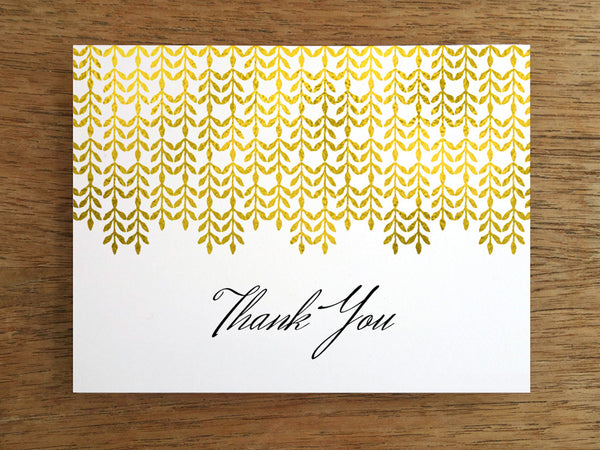 Glam Gold Printable Thank You Card