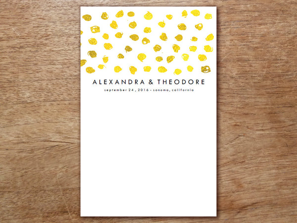 Printable Wedding Program - Gold Dots