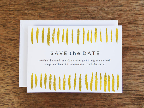 Gold Strokes Save the Date