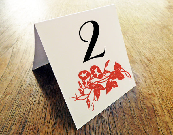 Printable Wedding Table Number - Gong Xi