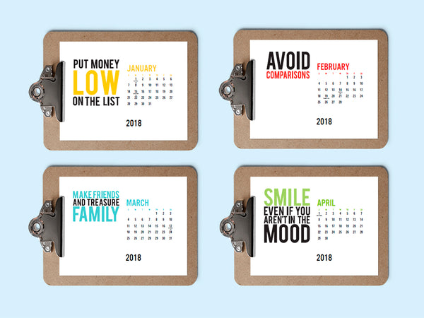 Printable Calendar - Happiness Habits