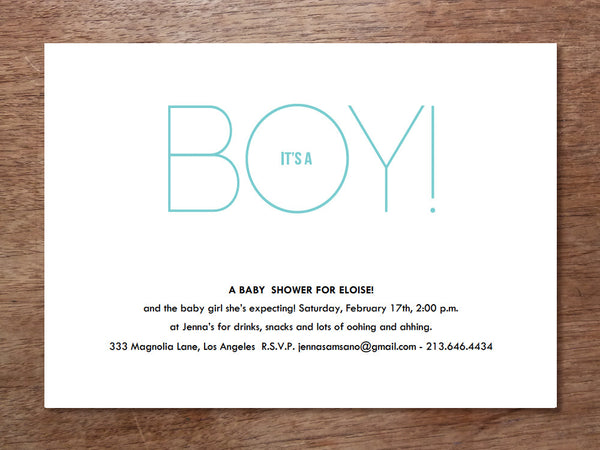 Printable Baby Shower Invitation - It's A Boy/Girl