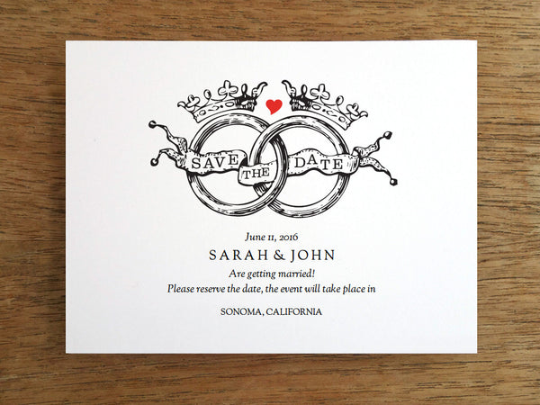 Printable Wedding Save the Date - Kate and Wills