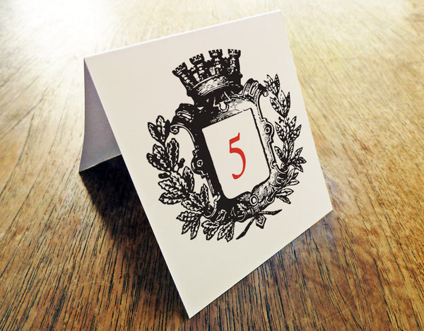 Printable Wedding Table Number - Kate and Wills