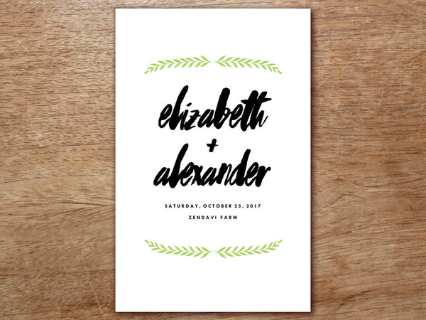 Printable Wedding Program - Laurel