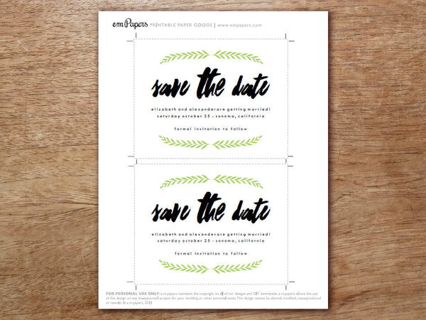 Printable Save the Date - Laurel