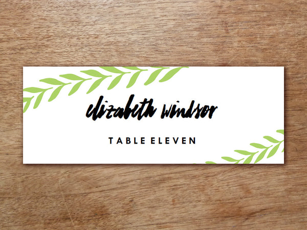 Printable Place Card - Laurel