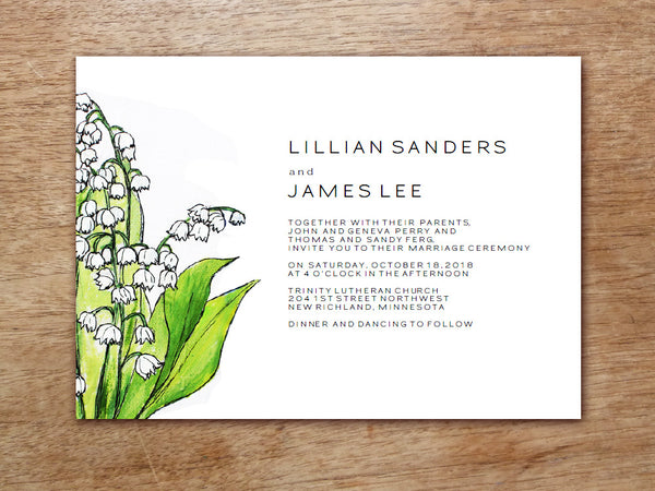Printable Wedding Invitation - LeMayr