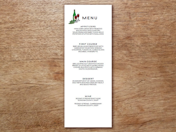 Printable Menu - LeMayr