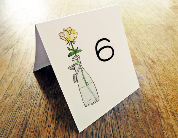 Printable Wedding Table Number - LeMayr