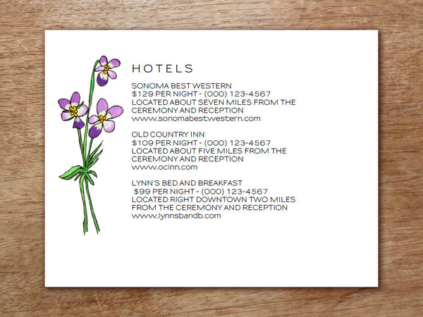Printable Wedding Information Card - LeMayr