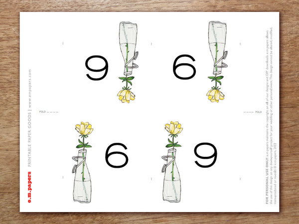 Printable Table Number - LeMayr
