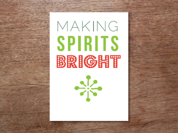 Printable Christmas Card - Making Spirits Bright
