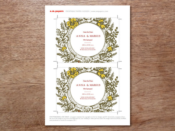 Printable Save the Date - Monogram