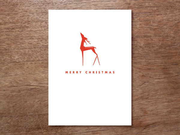 Printable Christmas Card - Red Deer