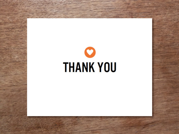 Printable Thank You Card - Simple Heart