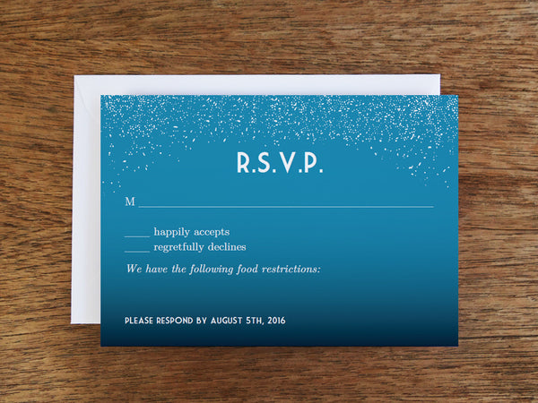Printable Wedding RSVP Card - Starry Night
