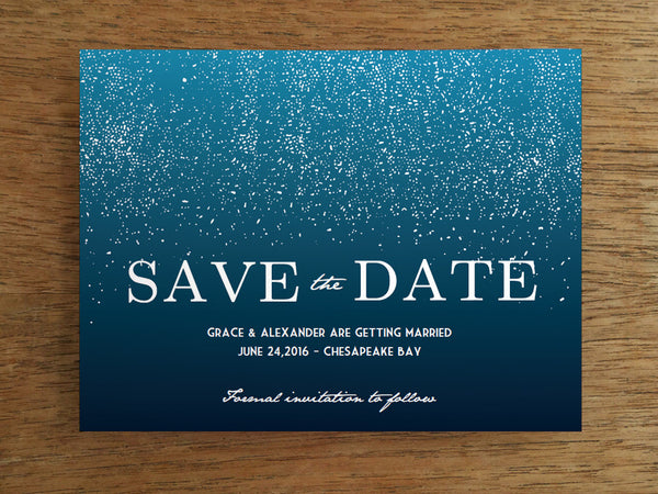 Printable Wedding Save the Date - Starry Night
