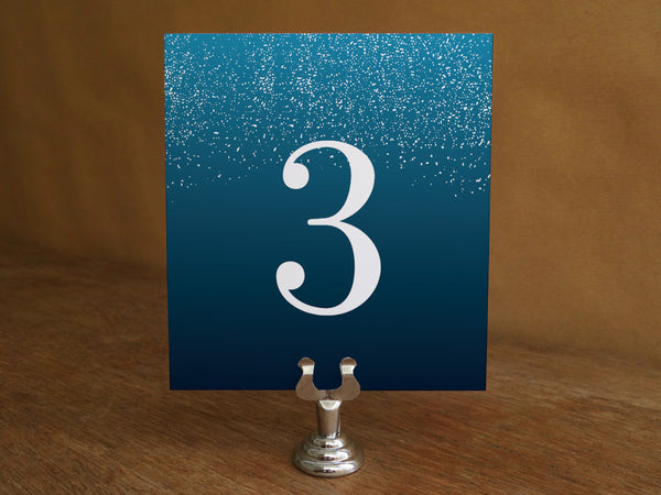 Printable Wedding Table Number - Starry Night