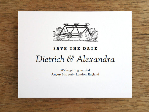Printable Wedding Save the Date - Tandem
