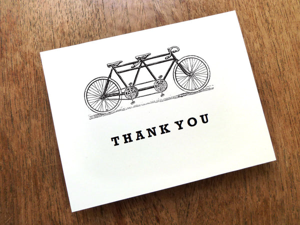 Printable Thank You Card - Tandem