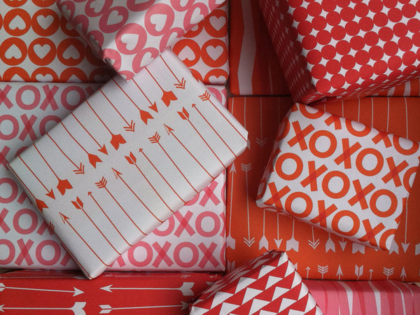 Printable Wrapping Paper - Valentine