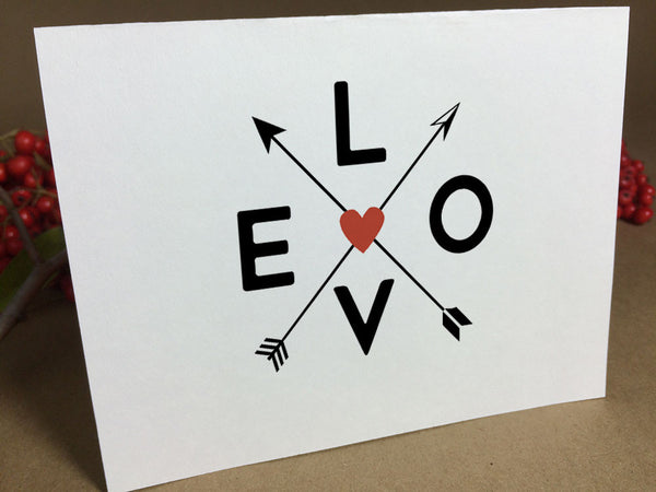 Printable Valentine Card - Criss Cross Arrows