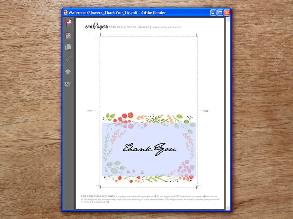 Printable Wedding Seating List - Watercolor Flowers