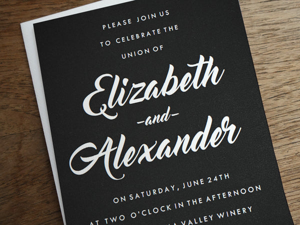 Printable Wedding Invitation - Retro Chalkboard