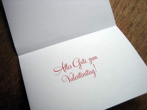 Printable Valentine Card - Knutsch