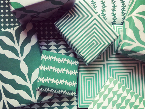 Printable Wrapping Paper - Green Patterns