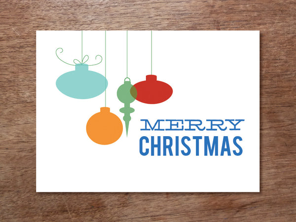 Printable Christmas Card - Ornaments