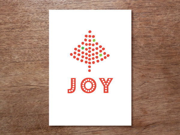 Printable Christmas Card - Joy Tree