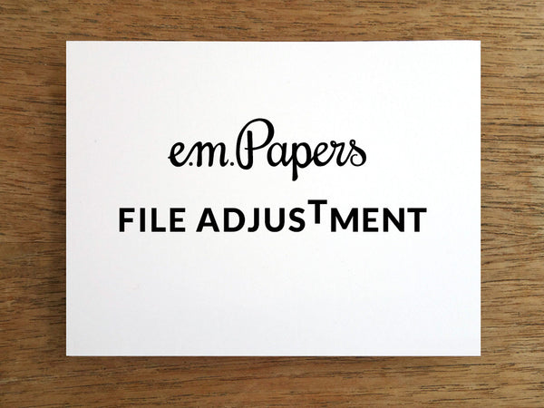 e.m.papers File Adjustment