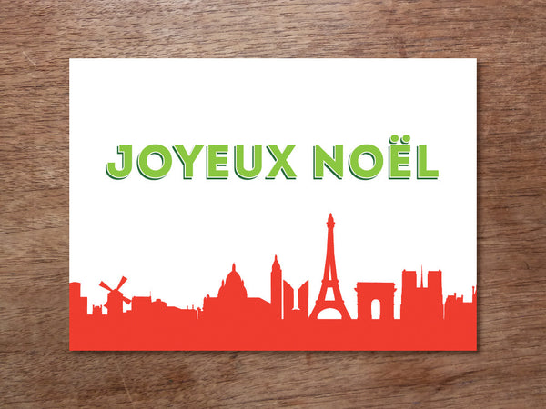 Printable Christmas Card - Joyeux Noel