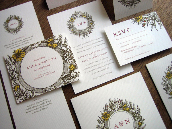 Printable Wedding Invitation Kit - Monogram