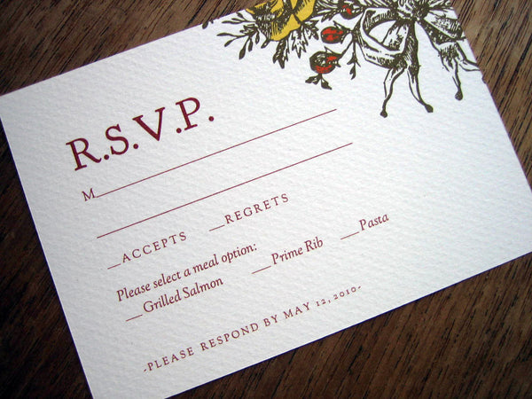 Printable Wedding RSVP Card - Monogram