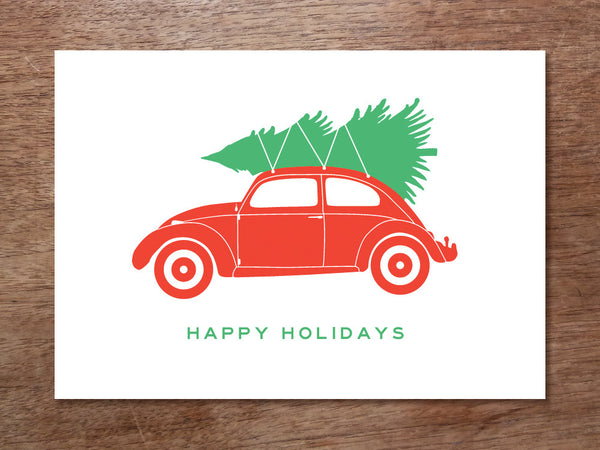 Printable Calendar - Christmas Tree VW Bug