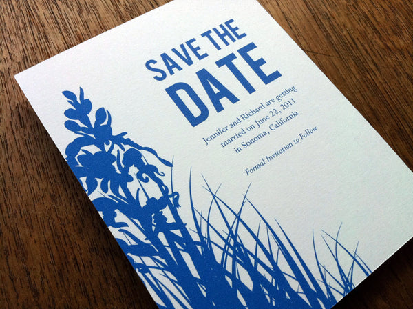 Printable Save the Date - Bluebell