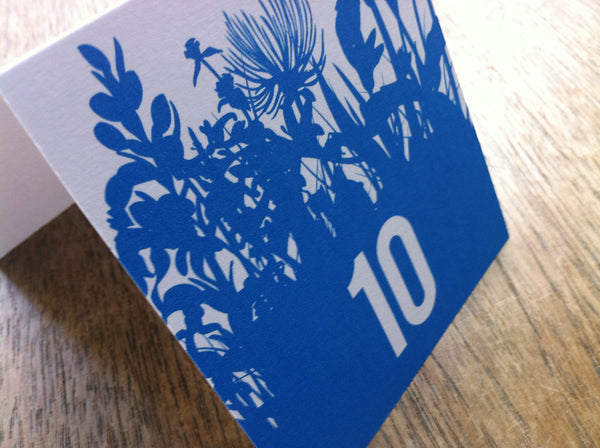 Printable Wedding Table Number - Bluebell