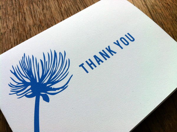 Printable Thank You Card - Bluebell