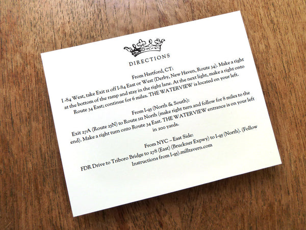 Printable Wedding Information Card - Kate and Wills