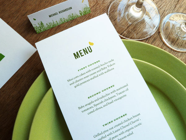 Printable Menu - Garden Party